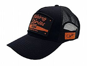 Boné BRK Fishing REF B083 - Fishing Stories Preto-Laranja